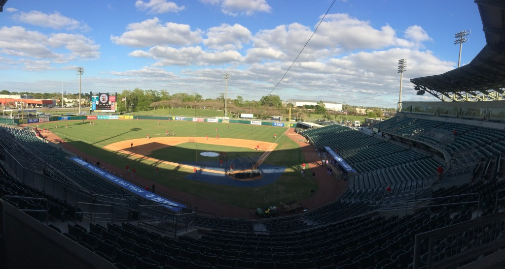 View of the Zephyr Field before the game