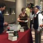 WWII Veteran Saluting Eric Blehm, the author of Fearless